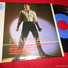 Discos de vinilo: RAPHAEL TODAS LAS CHICAS ME GUSTAN/RISAS Y LAGRIMAS/TE QUIERO MUCHO/FERIANTES EP 1965 HISPAVOX. Lote 55696961