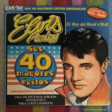 Discos de vinilo: ELVIS PRESLEY (EL REY DEL ROCK 'N' ROLL - SUS 40 MAYORES EXITOS) DOBLE LP K-TEL 1977. Lote 63819041