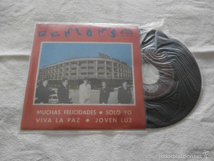 CONJUNTO GENION´S 7´EP MUCHAS FELICIDADES + 3 TEMAS (1970) PROMOCIONAL *NUEVO A ESTRENAR* (Música - Discos de Vinilo - EPs - Grupos Españoles de los 70 y 80)