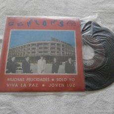 Discos de vinilo: CONJUNTO GENION´S 7´EP MUCHAS FELICIDADES + 3 TEMAS (1970) PROMOCIONAL *NUEVO A ESTRENAR*. Lote 55708180