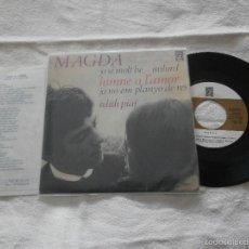 Discos de vinilo: MAGDA 7´EP CANTA A EDITH PIAF (1966) 4 TEMAS - CANTA EN CATALAN - EXCELENTE ESTADO. Lote 55709569
