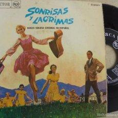 Discos de vinilo: SONRISAS Y LAGRIMAS -BANDA SONORA ORIGINAL EN ESPAÑOL -EP 1966 -PEDIDO MINIMO 3 EUROS. Lote 55713764