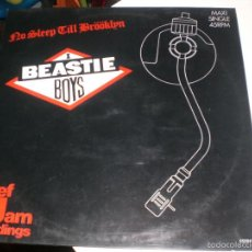 Discos de vinilo: MAXI SINGLE BEASTIE BOYS - NO SLEEP TILL BROOKLYN - DEF JAM SPAIN 1987 - VG+. Lote 55715235