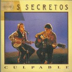 Discos de vinilo: LOS SECRETOS SINGLE SELLO TWINS AÑO 1990 EDITADO EN ESPAÑA. Lote 55718847