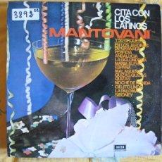 Discos de vinilo: LP - MANTOVANI - CITA CON LOS LATINOS (SPAIN, DECCA RECORDS 1963). Lote 55775187
