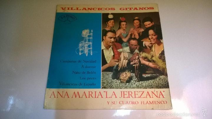 VILLANCICOS GITANOS.CAMPANAS DE NAVIDAD.EP.ESPAÑA 1965.ZAFIRO. (Música - Discos de Vinilo - EPs - Flamenco, Canción española y Cuplé)