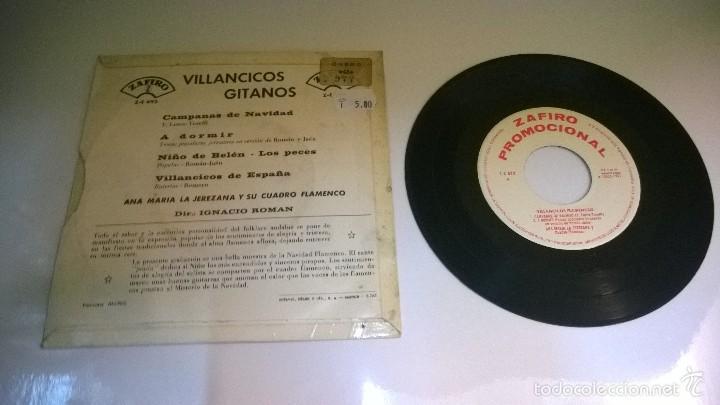 Discos de vinilo: Villancicos Gitanos.Campanas de navidad.EP.ESPAÑA 1965.ZAFIRO. - Foto 2 - 55779106