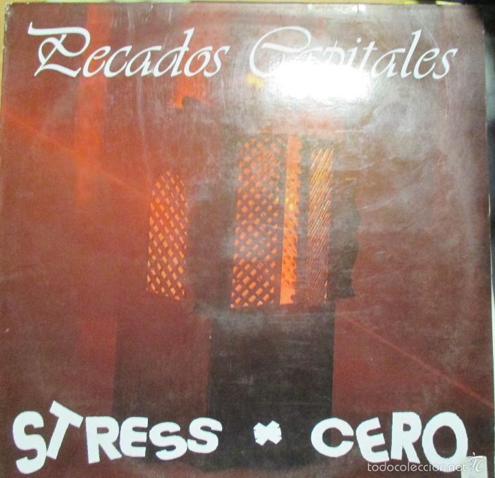STRESS CERO - PECADOS CAPITALES - MINI LP VINILO 1991 - 5 TEMAS - MUY RARO - (Música - Discos de Vinilo - EPs - Grupos Españoles de los 90 a la actualidad)
