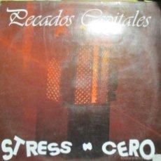 Discos de vinilo: STRESS CERO - PECADOS CAPITALES - MINI LP VINILO 1991 - 5 TEMAS - MUY RARO -. Lote 55783557