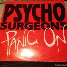 Discos de vinilo: PSYCHO SURGEONS - PANIC ON - MAXI UK QTA 1990 - PUNK. Lote 55786616