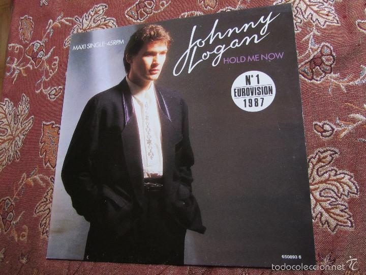 JOHNNY LOGAN- MAXI-SINGLE DE VINILO -TITULO HOLD ME NOW-NUM-1 EUROVISION 1987- 3 TEMAS - NUEVO (Música - Discos de Vinilo - Maxi Singles - Festival de Eurovisión)