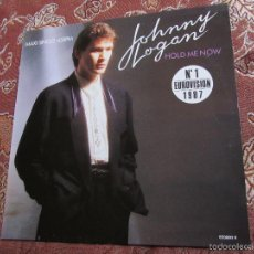 Discos de vinilo: JOHNNY LOGAN- MAXI-SINGLE DE VINILO -TITULO HOLD ME NOW-NUM-1 EUROVISION 1987- 3 TEMAS - NUEVO. Lote 55817239