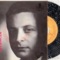 Discos de vinilo: SINGLE ALFREDO KRAUS. VALENCIA. MONTILLA. ZAFIRO. Lote 55826355