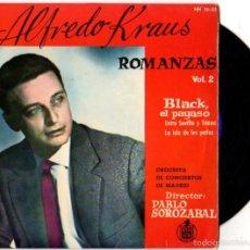Discos de vinilo: SINGLE ALFREDO KRAUS. ROMANZAS. VOL. 2. HISPAVOX. Lote 55826456