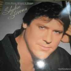 Discos de vinilo: SHAKIN´ STEVENS - THE BOP WON´T STOP LP - ORIGINAL INGLES - EPIC RECORDS 1983 - GATEFOLD COVER -. Lote 55834886