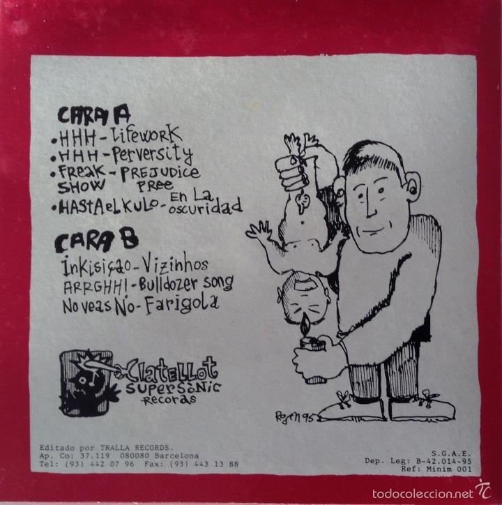 Discos de vinilo: Minimum Rockerol EP HHH Freak Show Hasta el Kulo No veas No Inkisicao ARRGHH! - Foto 2 - 55843664