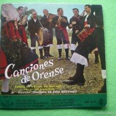 Discos de vinilo: CANCIONES DE ORENSE. CORAL DE RUADA DE ORENSE. VOL. 2. (6 CANCIONES). HISPAVOX 1959 EP PEPETO. Lote 55864638