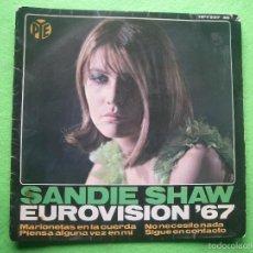 Discos de vinilo: EP EUROVISION. SANDIE SHAW. MARIONETAS EN LA CUERDA (PUPPET ON A STRING). HISPAVOX 1967. Lote 55864803