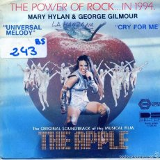 Discos de vinilo: THE APPLE (MARY HYLAN & GEORGE GILMOUR) / UNIVERSAL MELODY / FRY FOR ME (SINGLE 1980). Lote 55868481