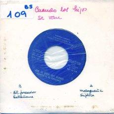 Discos de vinilo: CUANDO LOS HIJOS SE VAN (ALBERTO VAZQUEZ) / LA MALAGUEÑA / SUPLICA / EL PECADOR + 1 (EP PROMO 1971). Lote 55869720