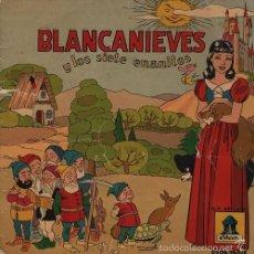 Discos de vinilo: CUENTOS INFANTILES ODEON BLANCANIEVES Y LOS 7 ENANITOS EP VINILO VERDE. Lote 55869936