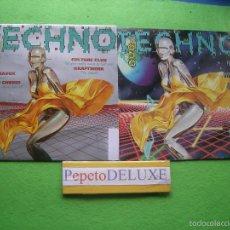 Discos de vinilo: VARIOS - TECHNO (2 SG) TODO TECHNO. VOL 1 & 2 SINGLES 1993 PDELUXE. Lote 55881409