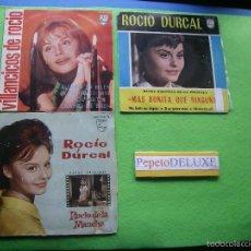 Discos de vinilo: ROCIO DURCAL (3 EP) QUE TENGAS SUERTE/MAS BONI../VILLANCICOS 1963 PDELUXE. Lote 55881470