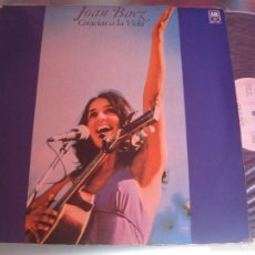 Discos de vinilo: JOAN BAEZ - GRACIAS A LA VIDA (LP A&M 1983). Lote 55881754