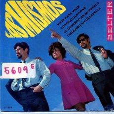 Disques de vinyle: LOS MISMOS / EL DOMINGO EN MI PUEBLO / CONGRATULATIONS + 2 (EP 1968). Lote 58524074