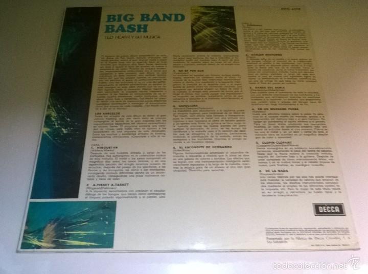 Discos de vinilo: Ted Heath y su música.Big Band Bash.LP.ESPAÑA 1968.DECCA. - Foto 2 - 55884437