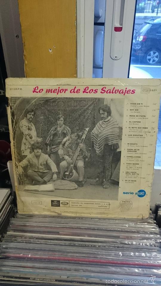 Discos de vinilo: LOS SALVAJES / LO MEJOR DE LOS SALVAJES / REGAL 1967 - Foto 2 - 55887924
