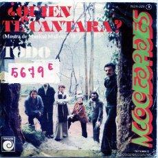 Disques de vinyle: MOCEDADES / ¿QUIEN TE CANTARA? (MALLORCA '78) / TODO (SINGLE PROMO 1978). Lote 55898081