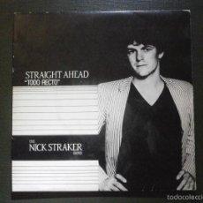Discos de vinilo: DISCO VINILO - SINGLE - THE NICK STRAKER BAND - STRAIGHT AHEAD - TODO RECTO - CBS - 1983, - RARO. Lote 55901043