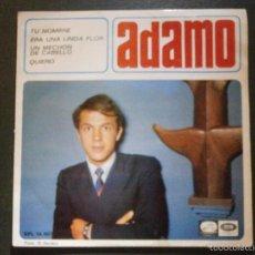 Discos de vinilo: DISCO VINILO - EP - ADAMO - TU NOMBRE - ERA UNA LINDA FLOR - QUIERO - EMI - 1966. Lote 55901738