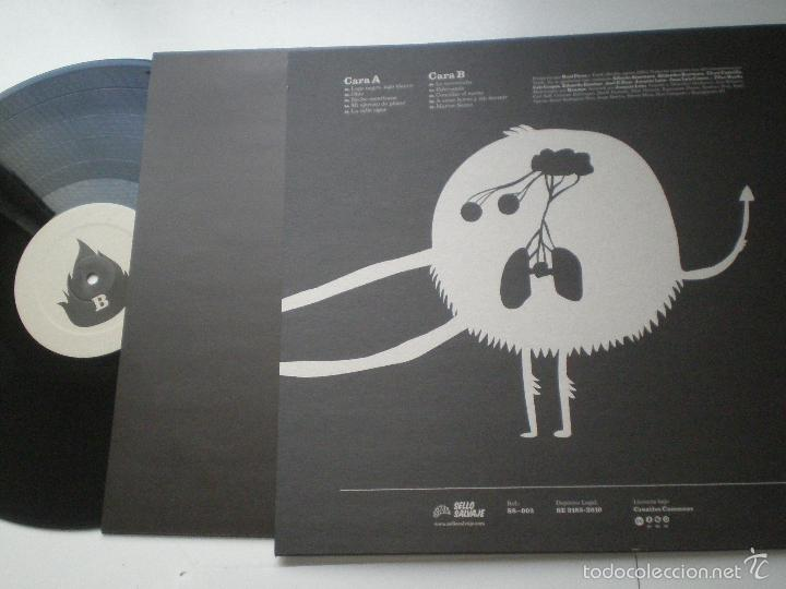 Discos de vinilo: TRISFE - Quema Cosas - LP+CD+POSTER SELLO SALVAJE 2010 // MINT // SPAIN POST ROCK INDIE // - Foto 3 - 62597200
