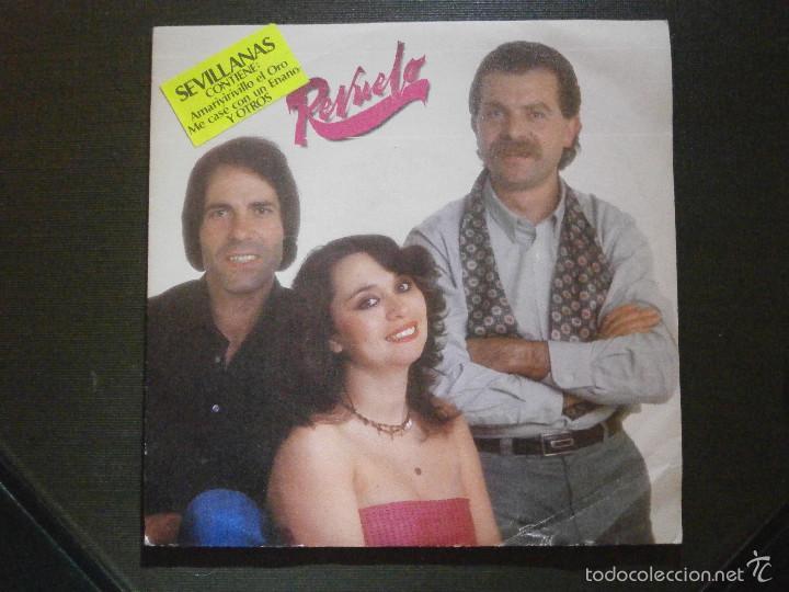 DISCO VINILO - SINGLE - REVUELO - SEVILLANAS - MOVIE PLAY - 1982 (Música - Discos de Vinilo - Maxi Singles - Flamenco, Canción española y Cuplé)
