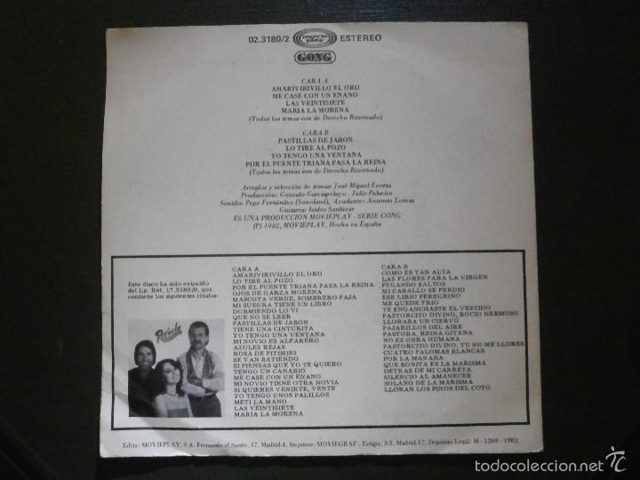 Discos de vinilo: DISCO VINILO - SINGLE - REVUELO - SEVILLANAS - MOVIE PLAY - 1982 - Foto 2 - 55902698