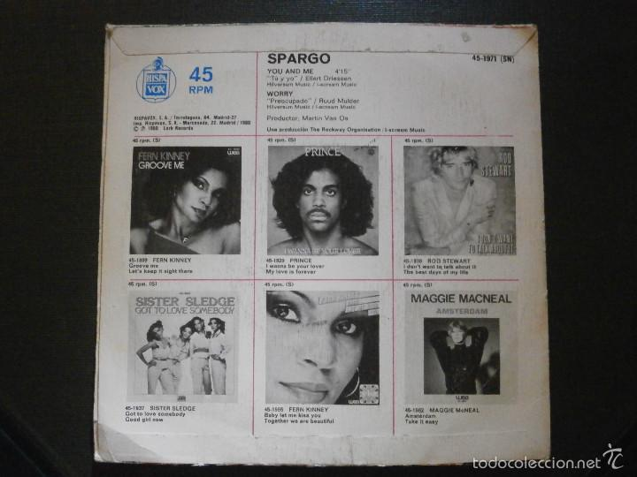 Discos de vinilo: DISCO VINILO - SINGLE - SPARGO - YOU AND ME -WEA - HISPAVOX - 1971 - Foto 2 - 55903129
