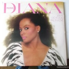 Discos de vinilo: DIANA ROSS - WHY DO FOOLS FALL IN LOVE - ED AMERICANA DOBLE PORTADA. Lote 55904327