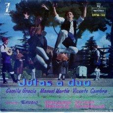Discos de vinilo: REGIONAL - JOTAS A DUO / CAMILA GRACIA - MANUEL MARTIN - VICENTE CAMBRA (EP 1960). Lote 55911652