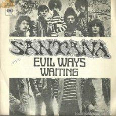 Discos de vinilo: SANTANA SINGLE SELLO CBS AÑO 1970 EDITADO EN ESPAÑA . Lote 55916751