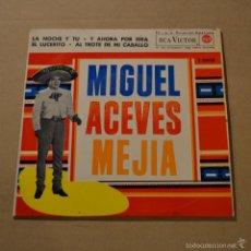 Discos de vinilo: MIGUEL ACEVES MEJIA. LA NOCHE Y TU + 3. RCA VICTOR. 1962. LITERACOMIC.. Lote 55919619