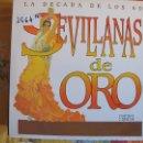 Discos de vinilo: LP - SEVILLANAS Y RUMBAS - SEVILLANAS DE ORO-LA DECADA DE LOS 60 (VARIOS, DOBLE DISCO). Lote 55933181