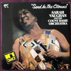 Discos de vinilo: SARA VAUGHAN AND THE COUNT BASIE ORCHASTRA, SEND IN THE CLOWNS (PABLO) LP ESPAÑA - FREDDIE GREEN. Lote 55933665
