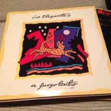 Discos de vinilo: ELEGANTES - A FUEGO LENTO LP DRO 1991 + ENCARTE. Lote 55951961