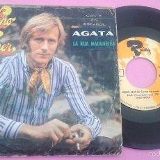 Discos de vinilo: NINO FERRER - AGATA - SINGLE MOVIEPLAY 1969 - CANTA EN ESPAÑOL. Lote 55995634
