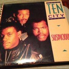 Discos de vinilo: TEN CITY - SUSPICIOUS - MAXI USA ATLANTIC 1989 - DEEP HOUSE - PRECINTADO. Lote 237306565