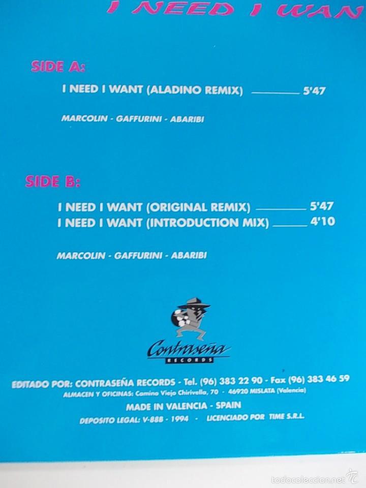Discos de vinilo: ALISON PRICE I NEED I WANT MAXI SINGLE - Foto 3 - 55998618