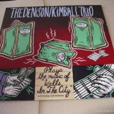 Discos de vinilo: THE DENISON KIMBALL TRIO LP PLAYS MUSIC OF WALLS IN THE CITY SKIN GRAFT ORIGINAL USA 1994 + ENCARTE. Lote 56008512