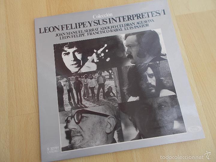 LEON FELIPE Y SUS INTERPRETES / 1 (VARIOS CANTAUTORES LP MOVIPLAY 1976 ) (Música - Discos - Singles Vinilo - Cantautores Españoles)